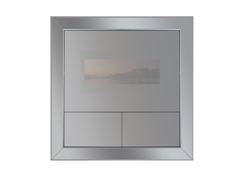 Television mirror hugues chevalier for Tlvision miroir