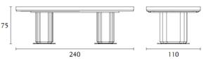 ( L x P x H ) inch