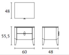 ( L x P x H ) 2 tiroirs