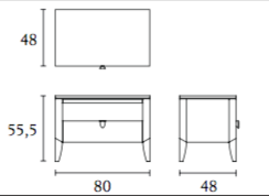 ( L x P x H ) 1 tiroir