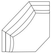 Angle pan coupé