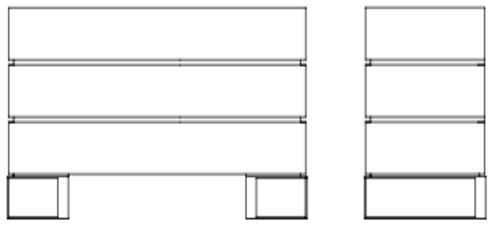 Commode 3 tiroirs 130